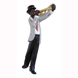 Jazz Band Trumpet Player Wall Decor - LM Treasures Life Size Statues & Prop Rental