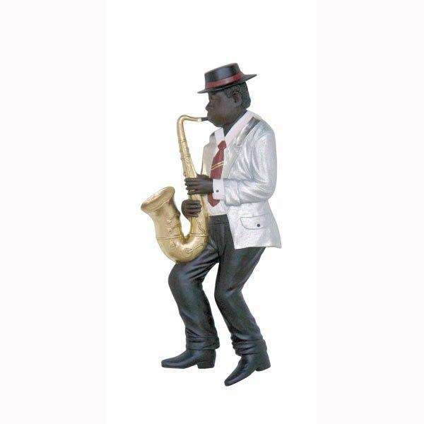 Jazz Band Saxophone Player Wall Decor - LM Treasures Life Size Statues & Prop Rental