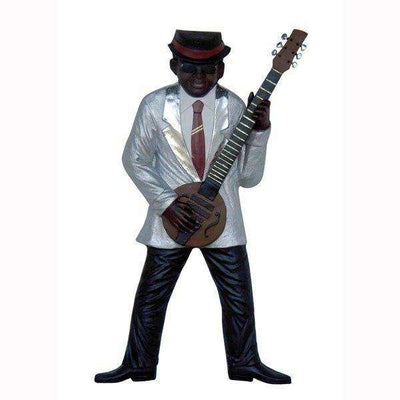 Jazz Band Guitar Player Wall Decor