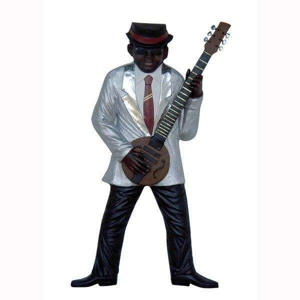 Jazz Band Guitar Player Wall Decor - LM Treasures Life Size Statues & Prop Rental