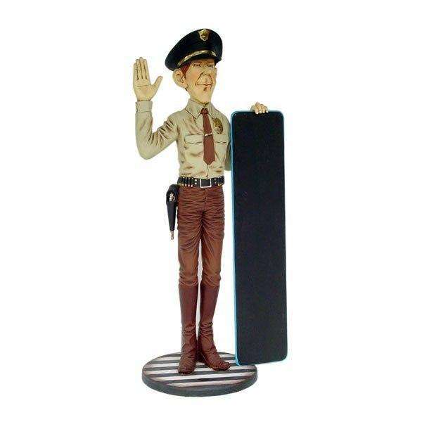 Police Officer In Uniform Cop Statue - LM Treasures Life Size Statues & Prop Rental