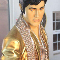 Singer Elvis In Gold Life Size Statue - LM Treasures Life Size Statues & Prop Rental