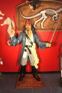 Pirate Captain Jack With Gun Life Size Statue - LM Treasures