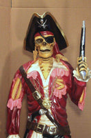 Pirate Skeleton With Gun Life Size Statue - LM Treasures Life Size Statues & Prop Rental