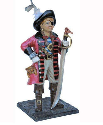 Pirate Child Girl Life Size Statue Resin Decor - LM Treasures Life Size Statues & Prop Rental