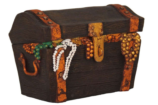 Treasure Chest Small Statue Pirate Prop Resin Decor - LM Treasures Life Size Statues & Prop Rental