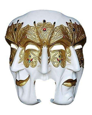 Mask Venice 3 Face Male Circus Wall Decor Statue - LM Treasures Life Size Statues & Prop Rental