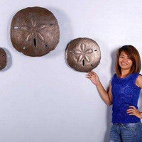 Shell Sand Dollars Set of 3 Beach Prop Resin Decor Statue - LM Treasures Life Size Statues & Prop Rental