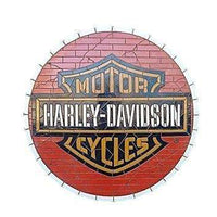 Mosaic Sign Motercycle Emblem Look Alike Wall Decor Resin Statue - LM Treasures Life Size Statues & Prop Rental