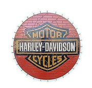 Mosaic Sign Motercycle Emblem Look Alike Wall Decor Resin Statue- LM Treasures