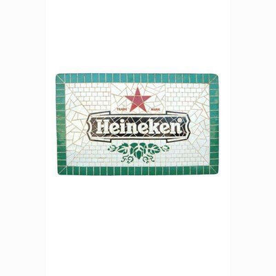 Sign Heineken Looks Like Mosaic Wall Plaque Decor- LM Treasures