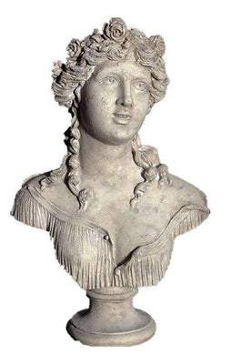 Stone Bust Sabine Greek Roman Prop Resin Decor- LM Treasures