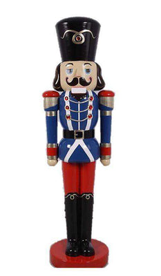 Nutcracker Soldier Life Size Resin Christmas Statue- LM Treasures