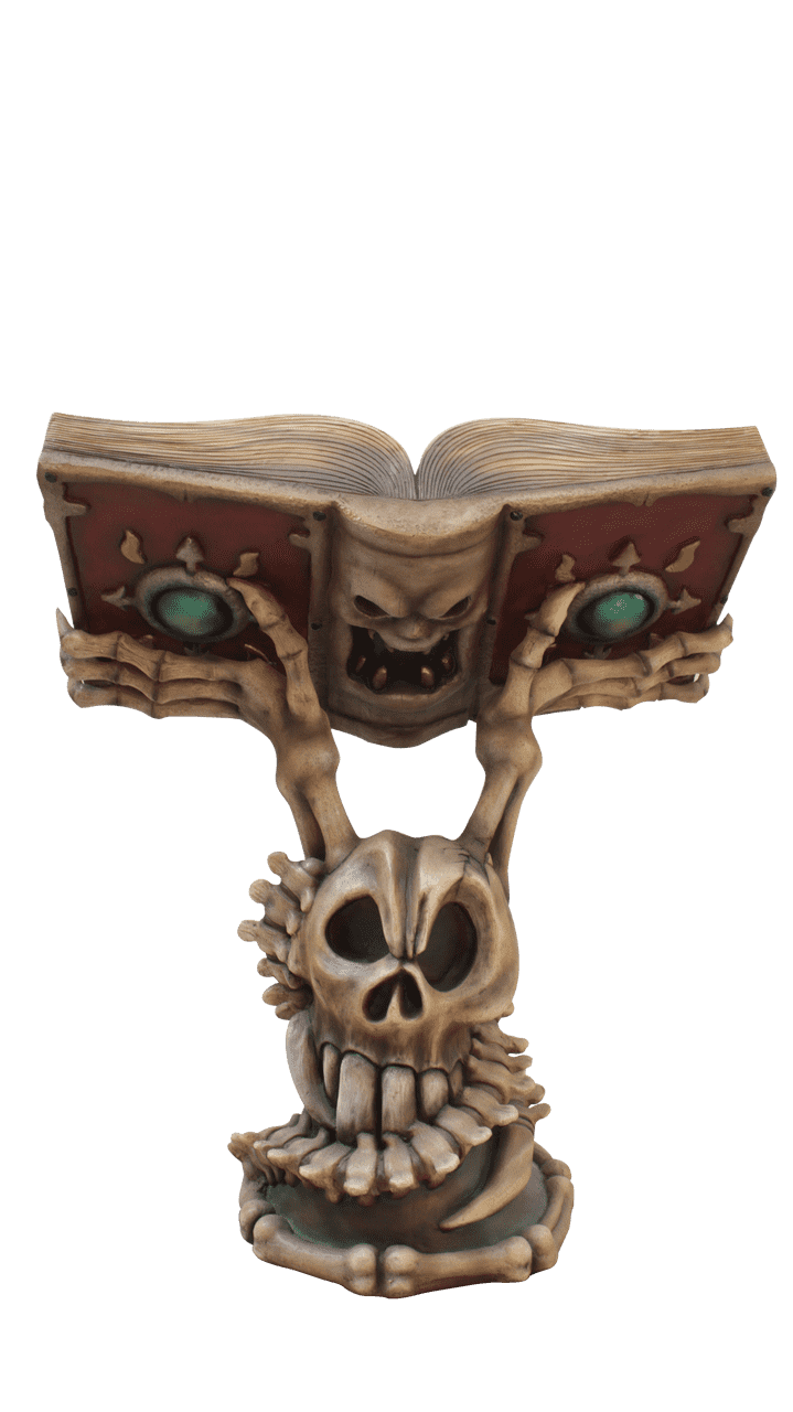 Witch's Book Pedestal Life Size Mythical Prop Decor Resin Statue - LM Treasures Life Size Statues & Prop Rental