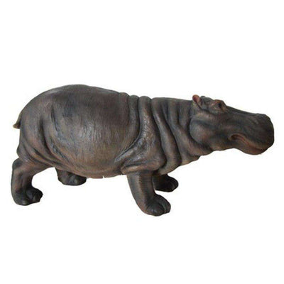 Hippo Table Top Wild Animal Prop Decor Resin Statue - LM Treasures Life Size Statues & Prop Rental