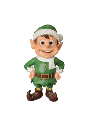 Elf Stubborn (Green) - LM Treasures Life Size Statues & Prop Rental