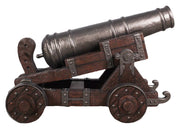 Pirate Cannon With Base # 2 Life Size Statue Resin Decor - LM Treasures Life Size Statues & Prop Rental