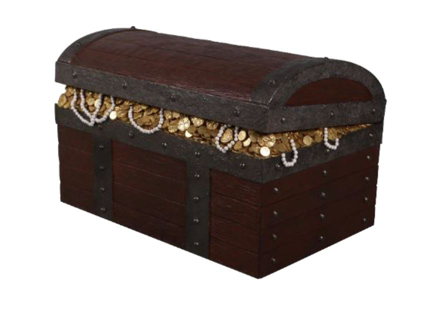Treasure Chest War Statue Pirate Prop Resin Decor - LM Treasures Life Size Statues & Prop Rental