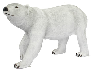 Polar Bear Walking Head Up Life Size Statue - LM Treasures