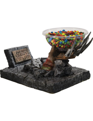 Candy Bowl Holder Halloween Freddy Krueger Hand Half Foam Licensed Statue- LM Treasures