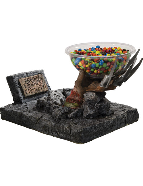 Candy Bowl Holder Halloween Freddy Krueger Hand Half Foam Licensed Statue - LM Treasures