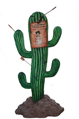 Cactus Sign Western Display Prop Decor Resin Statue- LM Treasures