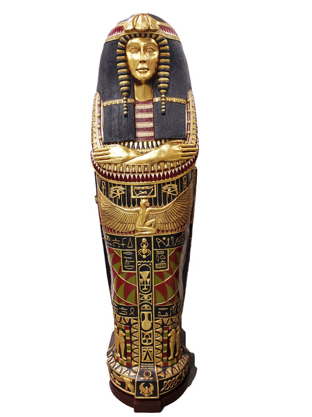 Egyptian Sarcophagus Queen Nefertiti  Life Size Prop Decor Resin Statue - LM Treasures Life Size Statues & Prop Rental