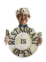 Open Closed Restaurant Sign Painted Chain - LM Treasures Life Size Statues & Prop Rental