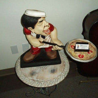 Chef Italian Cook Small Prop Restaurant Decor Resin Statue - LM Treasures Life Size Statues & Prop Rental