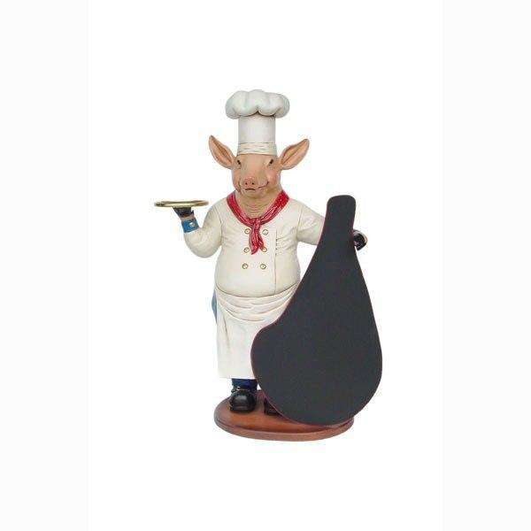 Animal Butler Pig Large Restaurant Prop Decor Resin Statue - LM Treasures - Life Size Statue
