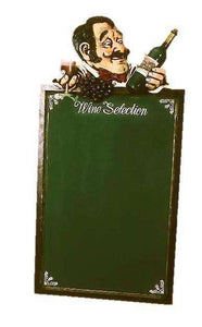 Menu Board Wine Selection - LM Treasures Life Size Statues & Prop Rental