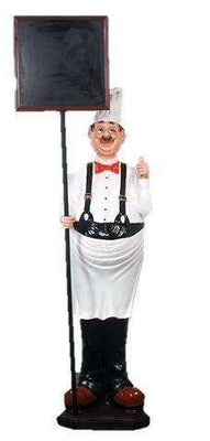 Chef Thumbs Up Life Size Restaurant Prop Decor Statue - LM Treasures Life Size Statues & Prop Rental
