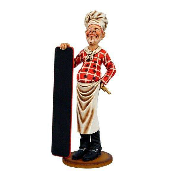 Chef Baker Life Size Restaurant Prop Decor Statue - LM Treasures