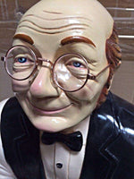 Butler Old Man Prop Restaurant Decor Resin Statue - LM Treasures Life Size Statues & Prop Rental