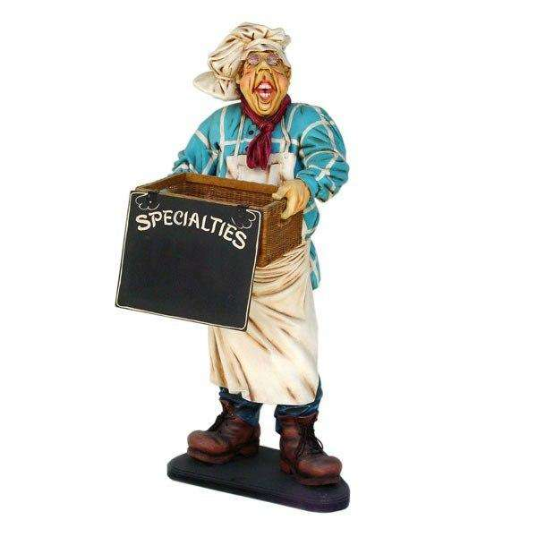 Chef Baker Funny Life Size Restaurant Prop Decor Statue - LM Treasures
