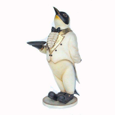 Animal Butler Penguin Large Bird Prop Decor Resin Statue- LM Treasures