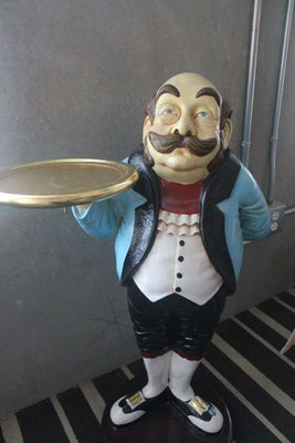 Butler Royal Prop Restaurant Decor Resin Statue - LM Treasures Life Size Statues & Prop Rental