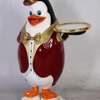 Comic Penguin Butler Life Size Statue - LM Treasures Life Size Statues & Prop Rental
