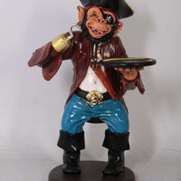 Animal Butler Monkey Pirate Prop Decor Resin Statue - LM Treasures Life Size Statues & Prop Rental