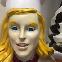 Blonde Lady Cook Life Size Statue - LM Treasures Life Size Statues & Prop Rental