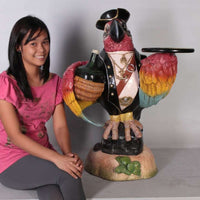 Animal Butler Parrot Pirate Prop Decor Resin Statue - LM Treasures Life Size Statues & Prop Rental
