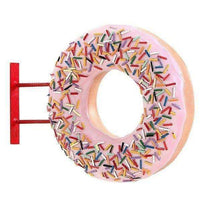 Hanging Pink Donut Over Sized Statue - LM Treasures
