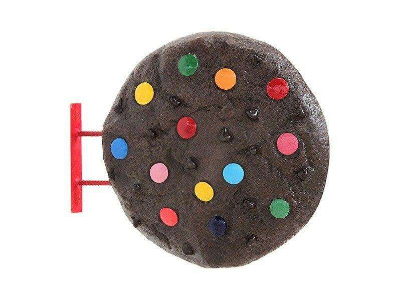 Hanging M & M Chocolate Cookie Over Sized Statue - LM Treasures Life Size Statues & Prop Rental