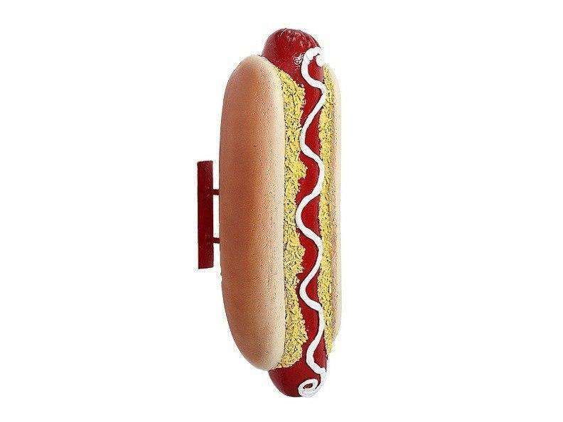 Hot Dog Wall Decor Over Sized Restaurant Prop Resin Statue - LM Treasures Life Size Statues & Prop Rental