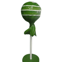 Candy Lollipop 4ft Green Giant Over Sized Resin Statue - LM Treasures Life Size Statues & Prop Rental