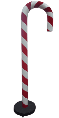 Candy Cane 6.5 ft Red and White Over Sized Resin Prop Decor Statue - LM Treasures Life Size Statues & Prop Rental