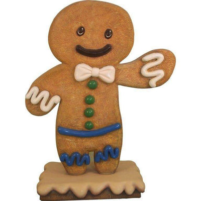 Gingerbread Boy Cookie #1 Display Prop Decor Statue - LM Treasures Life Size Statues & Prop Rental