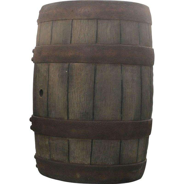 Old Large Resin Barrel Life Size Statue - LM Treasures Life Size Statues & Prop Rental