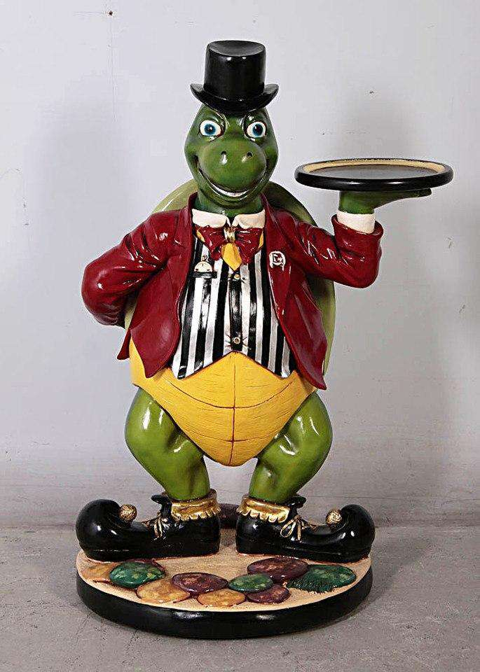 Animal Butler Turtle Prop Decor Resin Statue - LM Treasures