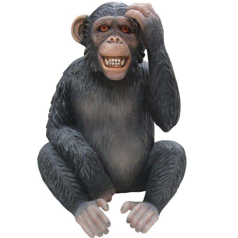 Monkey Max Chimpanzee Life Size Statue - LM Treasures Life Size Statues & Prop Rental